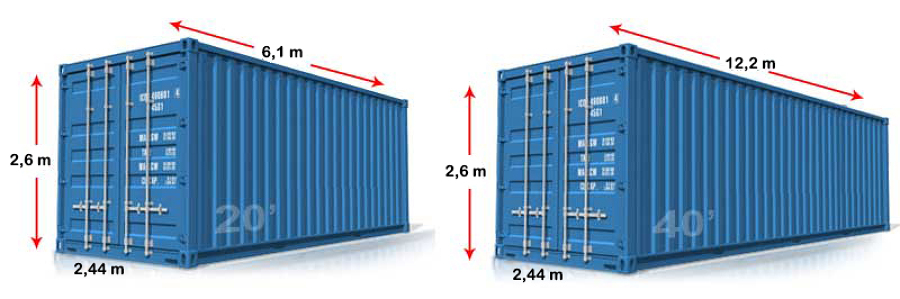 Container Dry Cargo e High Cube